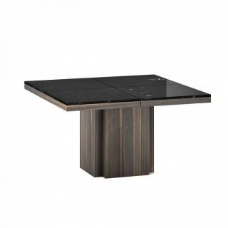 Table de repas WIDO plateau marbre noir