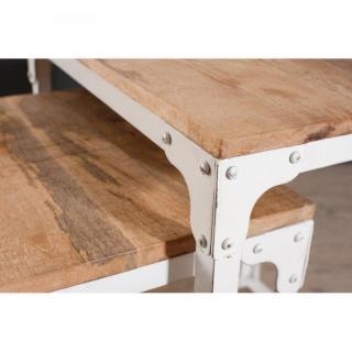 Table basse carr e ronde ou rectangulaire au meilleur prix ensemble de 3 tables gigognes - Table basse gigogne industriel ...