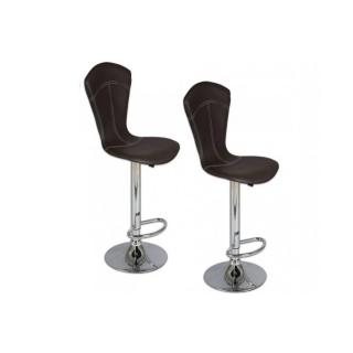 Lot de 2 chaises de bar BEAUTIFUL noires