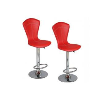 Lot de 2 chaises de bar BEAUTIFUL rouge
