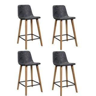 Lot de 4 chaises de bar COLT noir