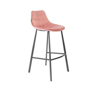 Dutchbone tabouret de bar  FRANKY COUNTERSTOOL en velours rose