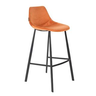Dutchbone tabouret de bar  FRANKY BARSTOOL en velours orange