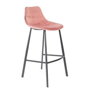 Dutchbone tabouret de bar  FRANKY BARSTOOL en velours rose