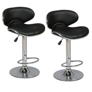 Lot de 2 Tabourets de Bar GOLD noir