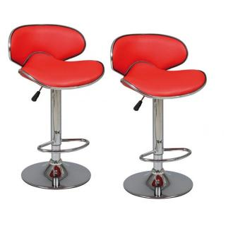 Lot de 2 Tabourets de Bar GOLD rouge