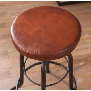Tabouret de bar design tendance retro au meilleur prix - Tabouret bar cuir marron ...