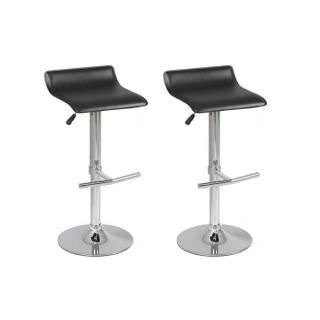 Lot de 2 Tabourets de Bar LYLI noir