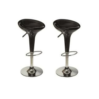 Lot de 2 Tabourets chaises de Bar SPIKE noir