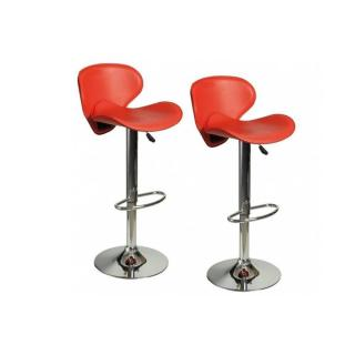 Lot de 2 chaises de Bar TULIPA rouge