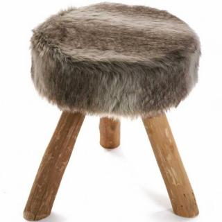 Tabouret rond LAHTI style scandinave gris