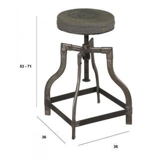 tabouret de bar design tendance retro au meilleur prix tabouret industriel sixtine en acier. Black Bedroom Furniture Sets. Home Design Ideas