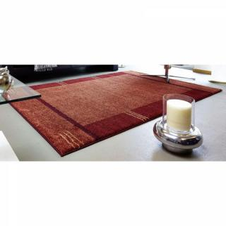 Tapis patchwork bordeaux et orange SAMOA DESIGN - 240x300 cm
