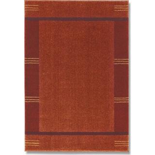 Tapis patchwork bordeaux et orange SAMOA DESIGN - 240x300 cm