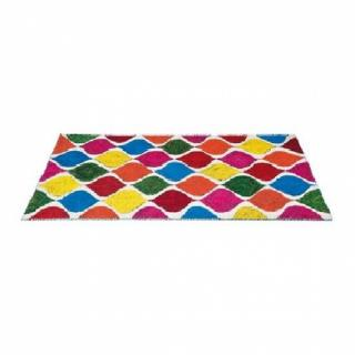 TIE AND DIE, tapis multicolore 170 x 240 cm.