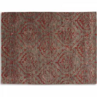 BASANTI Tapis laine rouge taupe