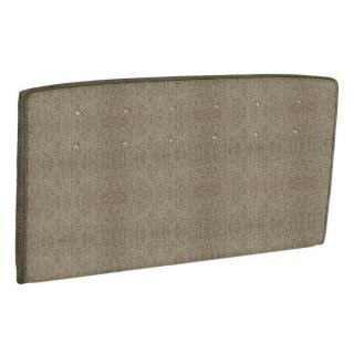 Tête de lit  capitonnée EPEDA tissu armuré marron/or