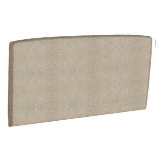 Tête de lit  capitonnée EPEDA tissu armuré beige naturel