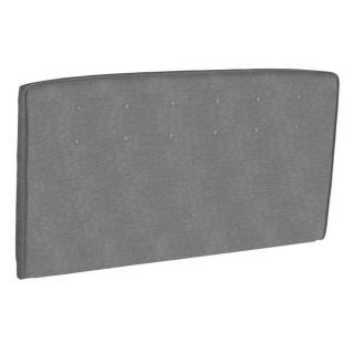 Tête de lit  capitonnée EPEDA tissu piqué gris clair