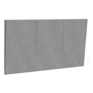 Tête de lit  chic EPEDA tissu piqué gris clair