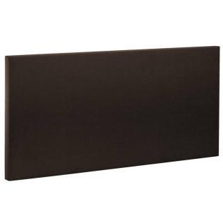 BULTEX Tête de lit  ETNA en tissu enduit polyuréthane simili façon cuir dark chocolat