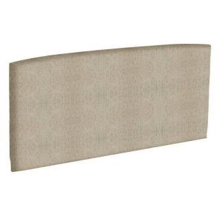 Tête de lit  galbée EPEDA tissu armuré beige naturel