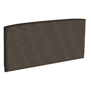 Tête de lit  galbée EPEDA tissu piqué châtaigne