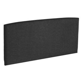 Tête de lit  galbée EPEDA tissu chiné gris graphite