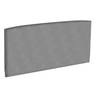 Tête de lit  galbée EPEDA tissu piqué gris clair