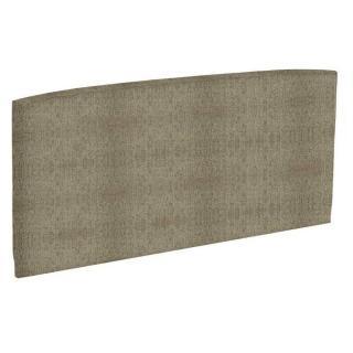 Tête de lit  galbée EPEDA tissu armuré marron/or