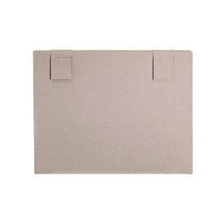 Tête de lit HOP'LA MERINOS chiné beige avec pochettes de rangements repositionnables