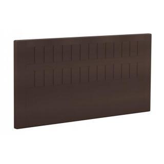BULTEX Tête de lit  STROMBOLI en tissu enduit polyuréthane simili façon cuir dark chocolat