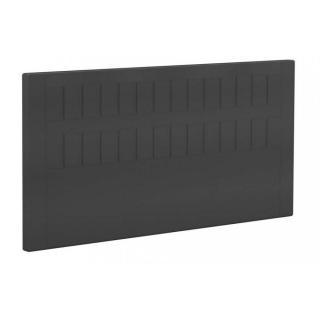 BULTEX Tête de lit  STROMBOLI en tissu enduit polyuréthane simili façon cuir noir