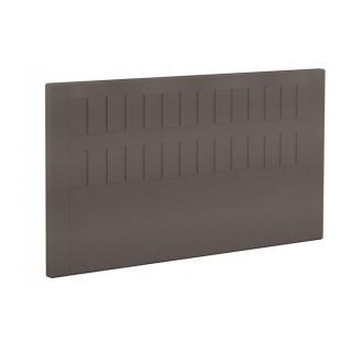 BULTEX Tête de lit  STROMBOLI en tissu enduit polyuréthane simili façon cuir taupe