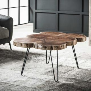 Table basse 6 troncs TRUNK bois massif