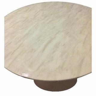 tables design au meilleur prix table ronde de repas design tulipe plateau en marbre gris beige. Black Bedroom Furniture Sets. Home Design Ideas