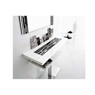 Console VENEZIA laque blanc design 2 plateaux