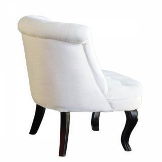 Fauteuils et poufs canap s et convertibles fauteuil - Fauteuil blanc capitonne ...