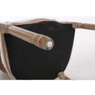 Fauteuil médaillon VERSAILLES style louis XVI lin marron et chêne gris