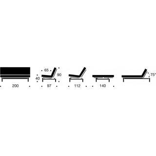 Canapé Clic Clac VIDAR convertible lit 140*200 cm