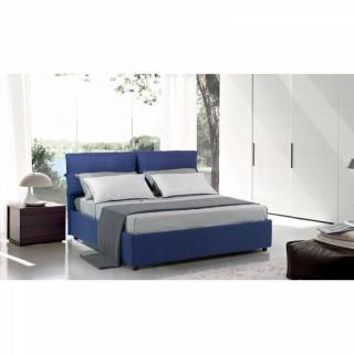 lits coffres chambre literie lit coffre design vittoria couchage 140 190cm tissu marron. Black Bedroom Furniture Sets. Home Design Ideas