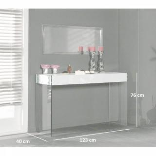 console design ultra tendance au meilleur prix white console laqu e blanc brillant avec. Black Bedroom Furniture Sets. Home Design Ideas