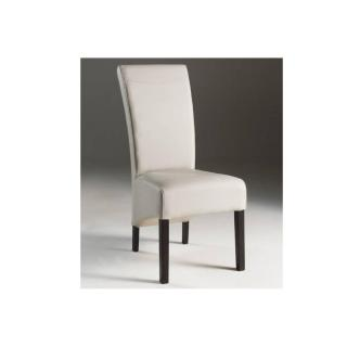 Chaise design WOLFY blanche en bois massif