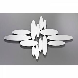 YONAGUNI Miroirs ovales en verre biseauté