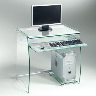 Bureau en verre transparent ZANI