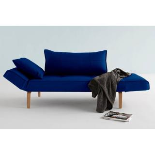 Canape design ZEAL BOW Velvet Royal Blue convertible lit 200*70 cm