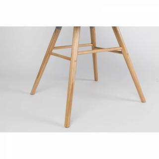 Lot de 2 chaises avec accoudoirs design scandinave ALBERT KUIP taupe